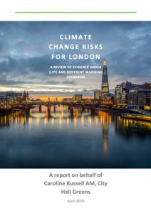 Cover of Climate Change Risks for London report